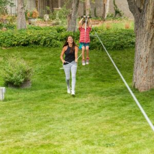70 ft Hawk Zip Line, Slackers Zip Line, 70 ft zip line kit canada, backyard fun
